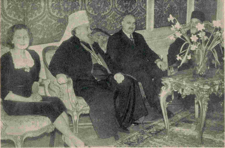 Vlada Ilić sa suprugom Olgom kod patrijarha Gavrila 1938. godine, Foto: Privatna arhiva